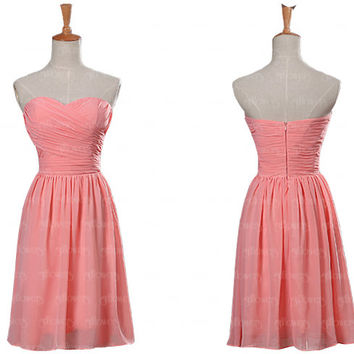peach bridesmaid dress, chiffon bridesmaid dress, short bridesmaid dresses, cheap bridesmaid dresses, affordable bridesmaid dresses, dreses