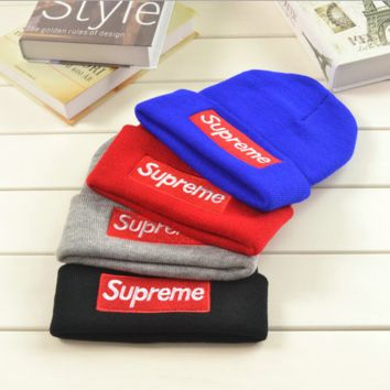 Comfortable Soft Supreme Knitted Hat Beanies