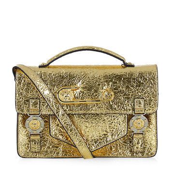 Versus Medium Gold Foil Satchel