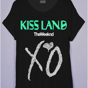 The Weeknd Kiss Land Black T-Shirt