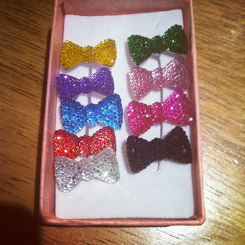 Sparkling Crystal Bow Anti Dust Plug for iPhone 3,4/4s,5