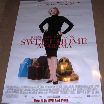 Sweet Home Alabama Movie Poster 27x40 Used Matthew D Miller, Rhona Mitra, Candice Bergen, Sarah Baker, Melanie Lynskey, Sean Bridgers, Thomas Curtis, Michael Snow, Chris Burns, Reese Witherspoon