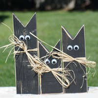 Primitive Black Cat,  Halloween Decoration
