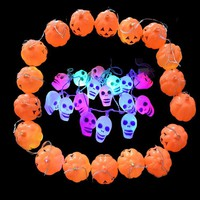 Halloween Lantern String Led Colorful Light Pumpkin Lantern String Skull Lighting Bar KTV Decoration Props Halloween Decorations