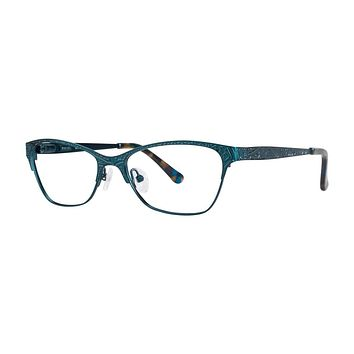 Kensie - Dreamy 50mm Sea Green Eyeglasses / Demo Lenses