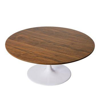 Tulip Coffee Table - Round - Walnut Top - Reproduction