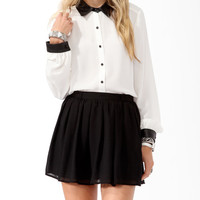 Coated Trim Longline Shirt