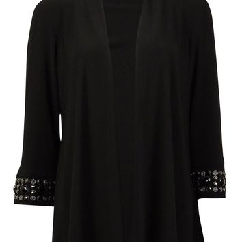 R & M Richards Women's Beaded Sleeve Shrug