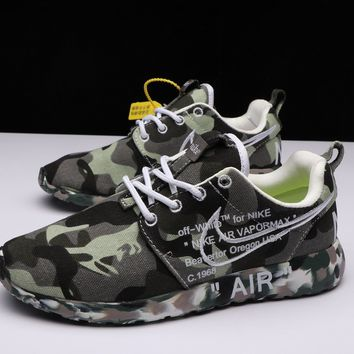Best Deal Online OFF-White X Nike Air Roshe One Camo Army Green Running Shoes