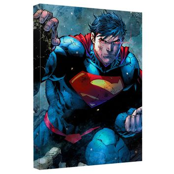 Superman - Rubble Canvas Wall Art With Back Board