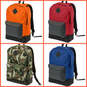 Monogrammed Boys Backpack - Personalized Book bag - Groomsmen Gift - Graduation Gift - Back to School - Blue - Orange- Red - Camo