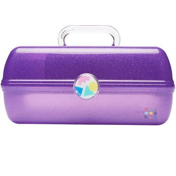 Purple Sparkle Jelly Retro On-The-Go Girl™ Caboodle