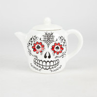 Sugar Skull Teapot White Combo One Size For Men 24570716701