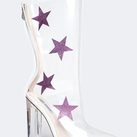 Starry Transparent Ankle Bootie
