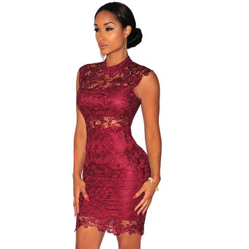 Sexy Club Dress 2016 New Arrival Women Lace Dress Summer Style Backless Sexy Dresses Black Red Mini Short Casual Dress S2368