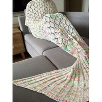 Chic Quality Colorful Hollow Out Mermaid Tail Design Knitting Blanket For Adult (COLORMIX) in Blankets & Throws | DressLily.com