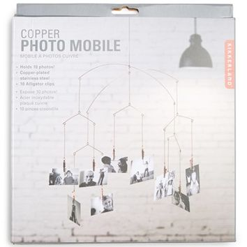 Kikkerland Design Copper Photo Mobile - Metallic
