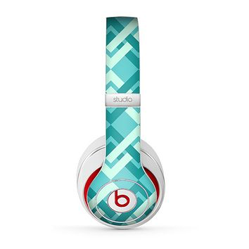 The Locking Green Pattern Skin for the Beats by Dre Studio (2013+ Version) Headphones