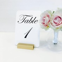 Table Number Holder Gold Card Holder Wedding Card Holder 3 inch Set of 20 For Restaurants Weddings Banquets by Gallery360Designs