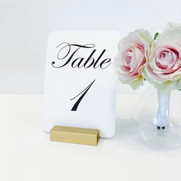 Gold Table Number Holders Gold Table Number Holders, Gold Wedding Table Number Holders (Set of 20)