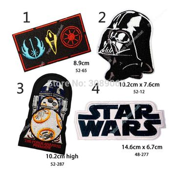 """Set of Four Different 4"""" STAR WARS Darth Vader TV Movie Fancy Embroidered Sew On Iron On Patch Applique"""