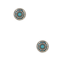 Shimmering Circle Stud Earrings