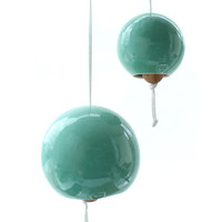 Small Turquoise Porcelain Bell