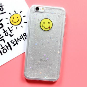 Cute Smiley Face Case for iPhone 7 7Plus & iPhone se 5s 6 6 Plus Best Protection Cover +Gift Box