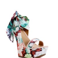 Sale- Pink Floral Haze Wedges