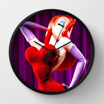 JESSICA RABBIT Wall Clock by Simone Morana Cyla
