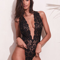 Crossback Lace Plunge Teddy - Very Sexy - Victoria's Secret