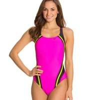 Speedo Fitness Quantum Splice One Piece at SwimOutlet.com - Free Shipping