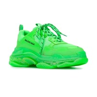 Neon Green Triple S Sneakers by Balenciaga