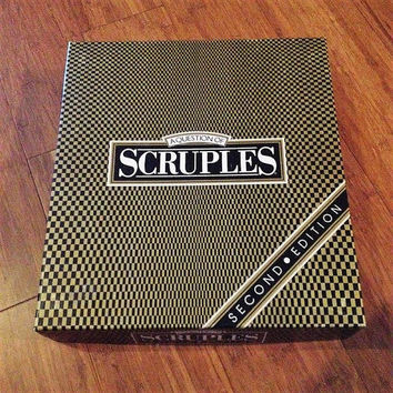 Vintage 1987 SCRUPLES - A Question of / Second Edition / By Milton Bradley / Retro Party Question Game