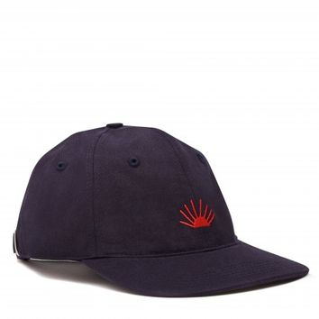 Gosha Rubchinskiy x Timur Novikov Cotton Embroidery Cap (Blue/Red)