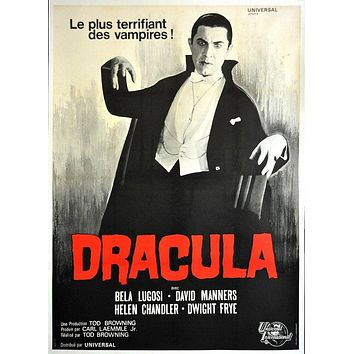 Vintage French Release Dracula Movie Poster// Classic Movie Poster//Movie Poster//Poster Reprint//Home Decor//Wall Decor//Vintage Art