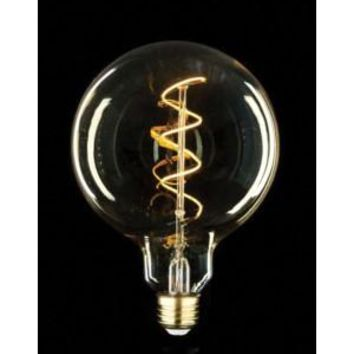 Large Oversize Global Style  Swirl Filament  Edison Antique Vintage Oversize LED Light Bulb  1 Pack  Medium size. 6 wattage  E26  15,000 hour of life.    180 Lumens