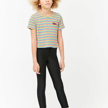 Girls Striped Angel Patch Tee (Kids)