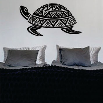 Turtle Version 2 Tribal Design Decal Sticker Wall Vinyl Art Decor Home