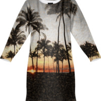 Sunset in Hawaii Sweatshirt Dress created by Blooming Vine Design | Print All Over Me