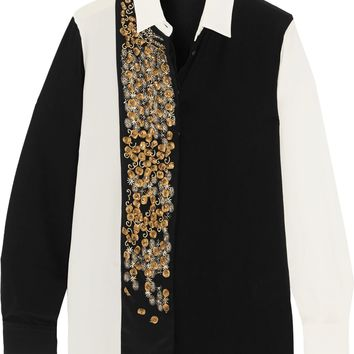 Camicia Boyfit embellished silk shirt | ETRO | Sale up to 70% off | THE OUTNET