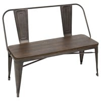 Oregon Industrial Dining Bench Antique, Espresso