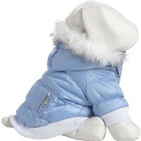 Metallic Fashion Parka W/ Removable Hood- Light Blue- Apparel - Coats and Jackets Posh Puppy Boutique