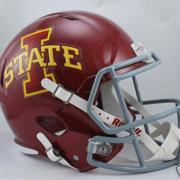 IOWA STATE CYCLONES RIDDELL FULL SIZE DELUXE SPEED FOOTBALL HELMET