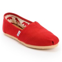 Toms Classics Canvas Red Slip-On