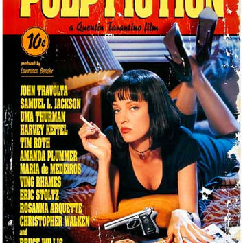 Pulp Fiction Quentin Tarantino Movie Poster 11x17
