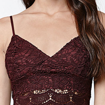 LA Hearts Allover Lace Cropped Bralette at PacSun.com