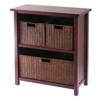 Milan 4 Piece Cabinet/Shelf with 3 Baskets