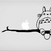 Totoro Branch Macbook Decal sticker air pro mac