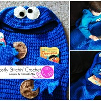 Cuddle-Up Cookie Monster Amigurumi Blanket Pattern | Craftsy